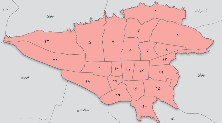 مناطق تحت پوشش